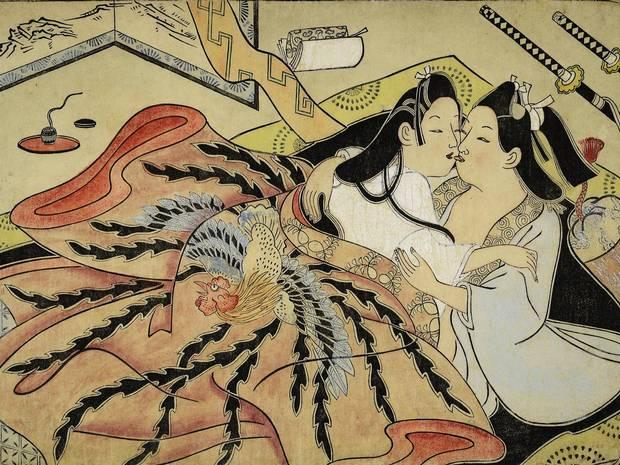 На выставке покажут японские эротические гравюры 1603-1868 гг, а также пере